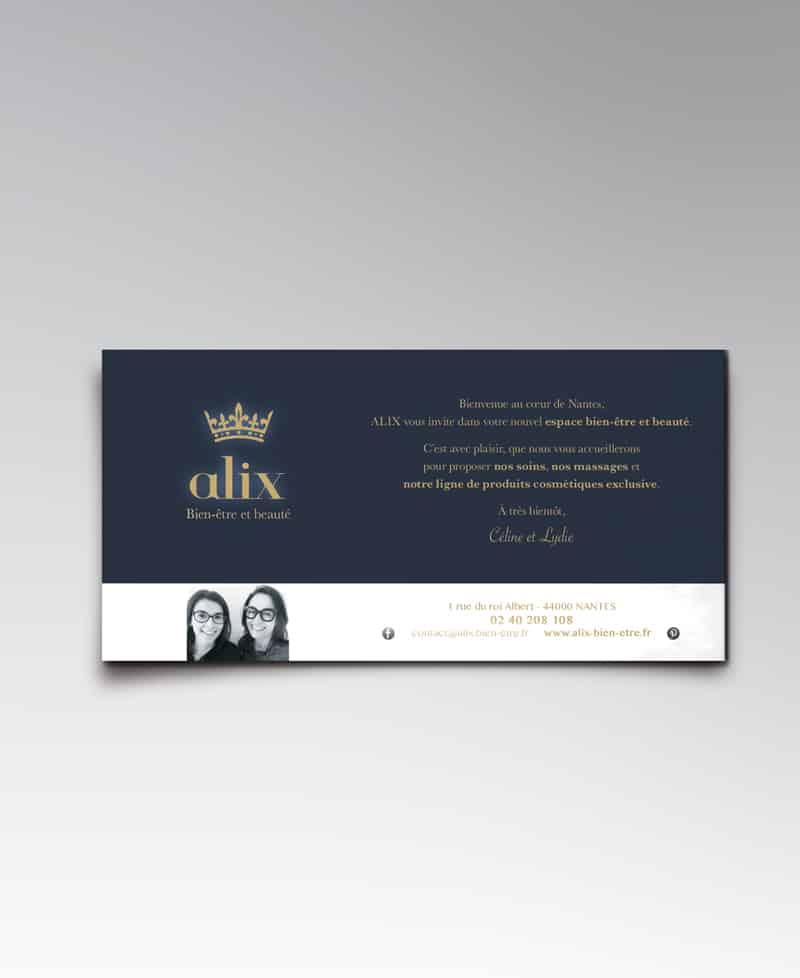 Cartes invitation Nantes ALIX